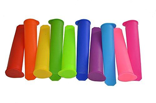 Bekith 10 Stück Silikon-Eis-Pop Maker Set,Ice Pop Formen,und sie reinigen super einfach.