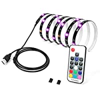 Calish Bias Lighting TV Backlight 200cm Multi Color RGB LED Strip, USB Cable TV Lighting for Flat Screen TV LCD, Desktop PC(Reduce eye fatigue and increase image clarity)