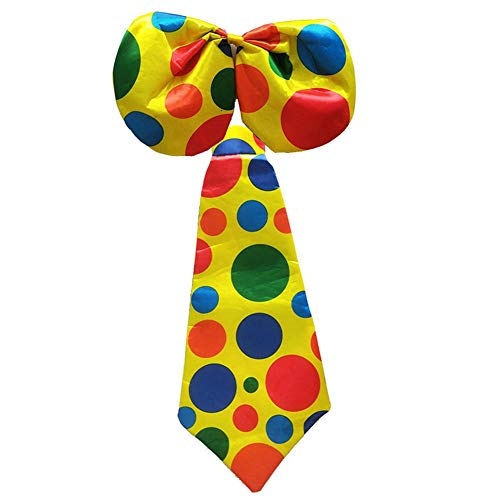 Krawatte Halloween Clown Dress Up Dekoration Big Dot Muster Cosplay Clown Kostüm ()