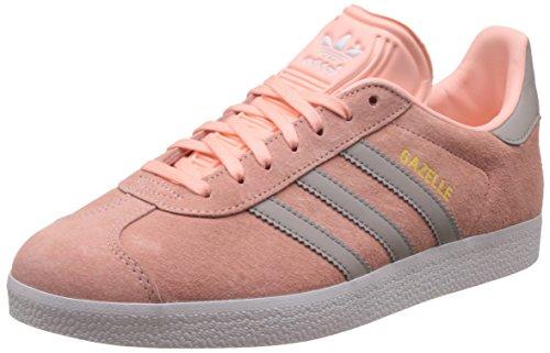 adidas Damen Gazelle Sneakers - Rosa (Haze Coral/Clear Granite/FTWR White), 40 2/3 EU