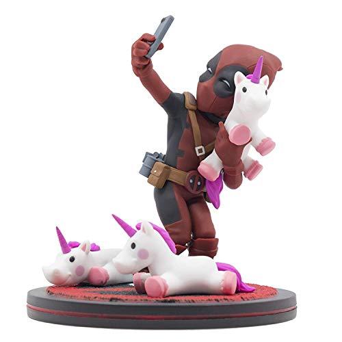 Quantum Mechanix QMVL026 Deadpool #Unicornselfie Q-Fig Diorama con Unicornios