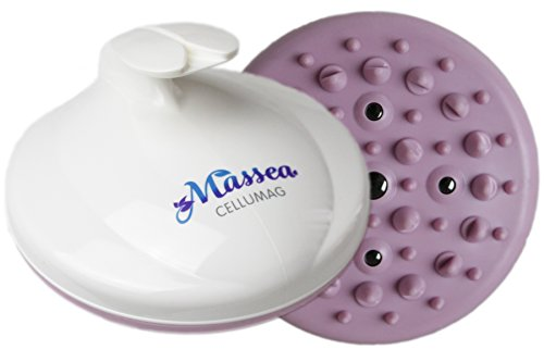 CelluMag Anti Cellulite Massagebürste mit Magneten gegen Orangenhaut. Für straffe Haut, Massage, Wellness und Beauty (Flieder)