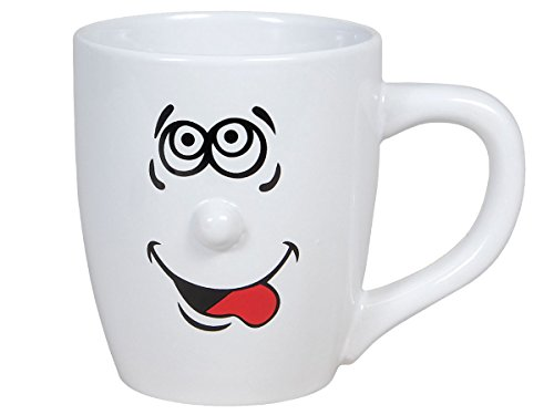 ace Smilie Kaffeetasse Kaffeebecher mit Gesicht Porzellan von Alsino 13 x 11 cm, Variante wählen:78/8265-2 (Smilie Gesicht)