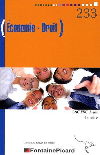 Economie Droit 1e Bac Pro 3 ans
