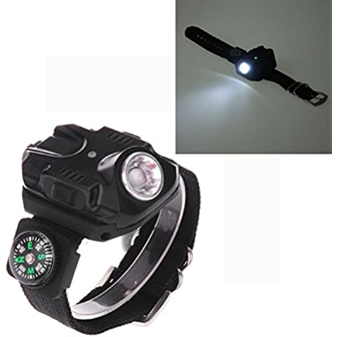 LT-2211 XPE 1LED 240LM IPx4 5-Mode Luce Bianca Watch Type Torcia Faretto(Black)