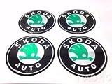 Skoda ★4 Stück★ 60mm Aufkleber Emblem für Felgen Nabendeckel Radkappen
