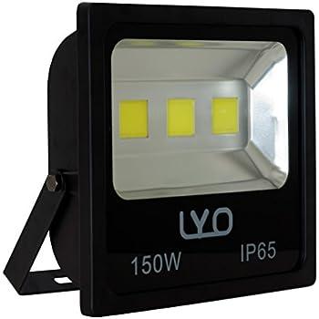 LYO Proyector LED SMD Extraplano Integrado, 200 W, Negro, 37 x 37 ...