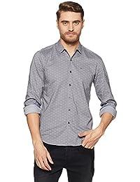 Lee Men's Printed Slim Fit Casual Shirt - B078HWJGD3