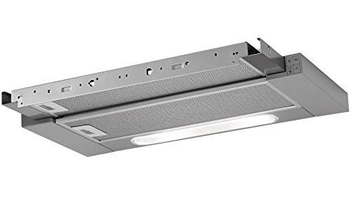 AEG DPB3631M Dunstabzugshaube (Einbau)/versenkbare Abzugshaube/Edelstahlblende BF6070M nicht im Lieferumfang/60cm Einbau Dunstabzug/Flachschirmhaube mit 3 Leistungsstufen und LED-Beleuchtung/Edelstahl