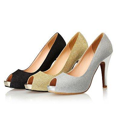 Moda Donna Sandali Sexy Donna Sandali tacchi / Peep toe / Stili Glitter Wedding / Party & sera abito / Stiletto Heel Glitter spumanti Black