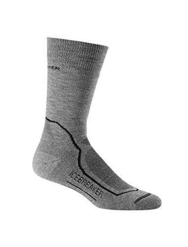 Black Crew Socken (Icebreaker Herren Socken Hike Medium Crew, twister hthr/black/monsoon, M, IBND09002)