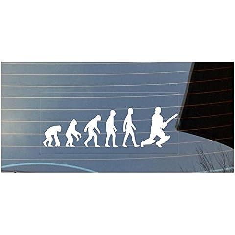 Evoluzione di Man Cricket auto adesivo per finestra, colore: