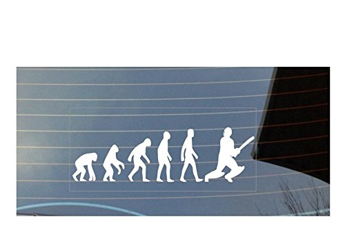 Adesivo per finestrino, motivo: evoluzione dell'uomo con cricket,