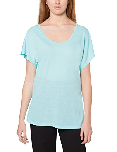 Grüne Damen Light T-shirt (Ultrasport Damen Yoga Shirt - Sportshirt locker & lässig - Yogashirt mit Kurzarm & Rundhals Ausschnitt - T-Shirt Light Action für Sport & Freizeit, Mint, M)