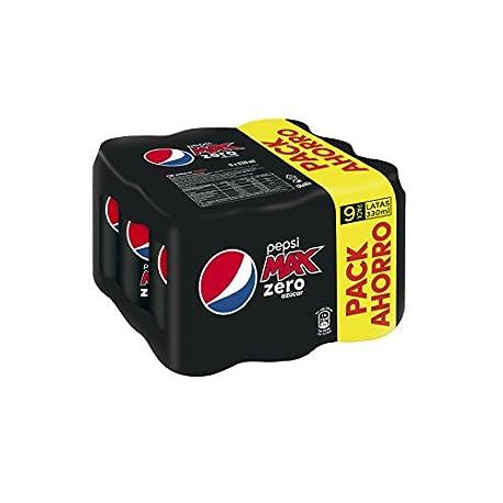 Pepsi Max Zero Bebida Refrescante sin az car lata 33 cl Pack de 9 Pack de 4