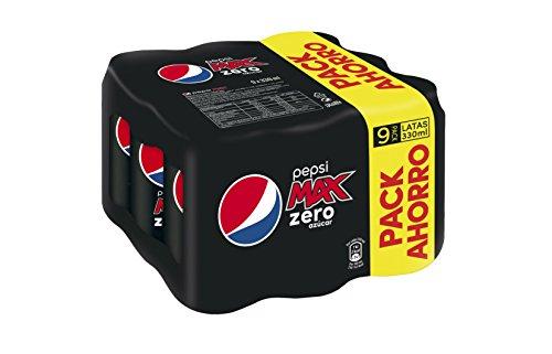 pepsi-max-zero-bebida-refrescante-sin-azcar-lata-33-cl-pack-de-9-pack-de-4