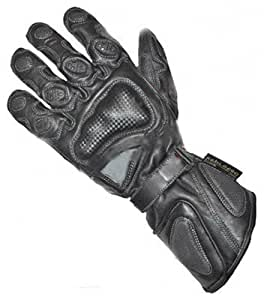 Juicy Trendz Heavy Duty Cowhide Leather Zeus Winter Black Motorbike Motorcycle Biker Gloves