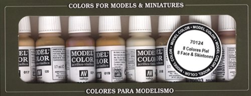 Model Color Set - Face/Skin Colours (X8) (Val70124)