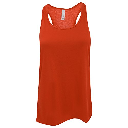 Bella Flowy Racerback Tank Top für Damen Athletic Heather/Neon Pink