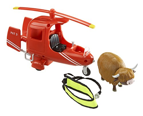 Image of Character Postman Pat Deluxe SDS Helicopter with Runaway Cow