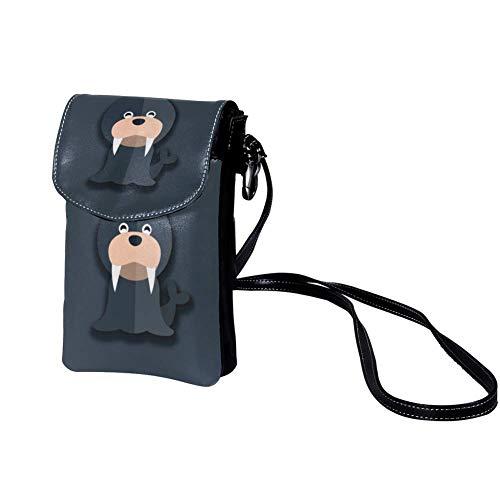 Veckgeng umhängetasche Damen und Herren &mädchen Sport Bag umhängetasche Schön Crossbody Sack niedlich 19x12x2cm