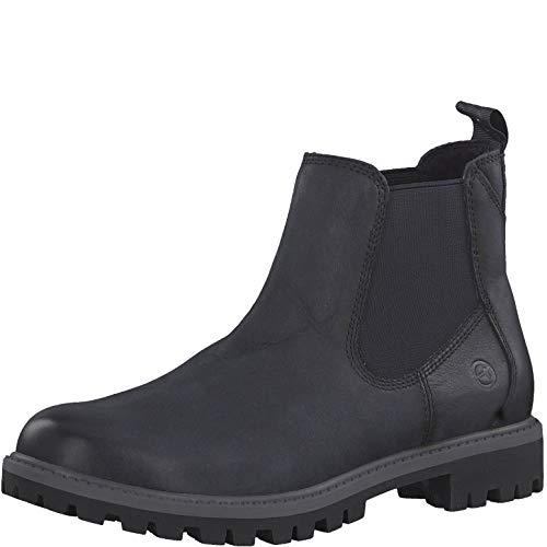 Tamaris Damen Stiefeletten 25401-23, Frauen Chelsea Boots, halbstiefel Stiefelette Bootie Schlupfstiefel flach Damen Frauen Lady,Navy,42 EU / 8 UK