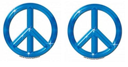 Peace Aufkleber Sticker 2 Stück Frieden Umwelt Erde gegen Gewalt Autoaufkleber (Friedenszeichen-autoaufkleber)