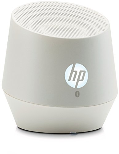 HP S6000 (F7U49AA) Mini Bluetooth Lautsprecher (Bluetooth-fähig, Microsoft Windows XP/Vista/7/8/Android 3.0 /Apple iOS 4.3 , integriertem Akku, bis zu 8 Stunden Laufzeit) weiß