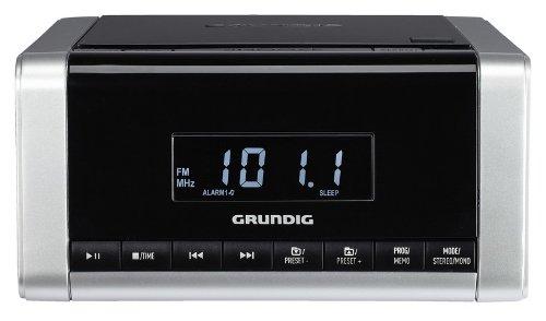 Grundig CCD 5690 SPCD Uhrenradio (PLL, CD-Player, etc.) silber/schwarz (Uhr Mit Cd-player)
