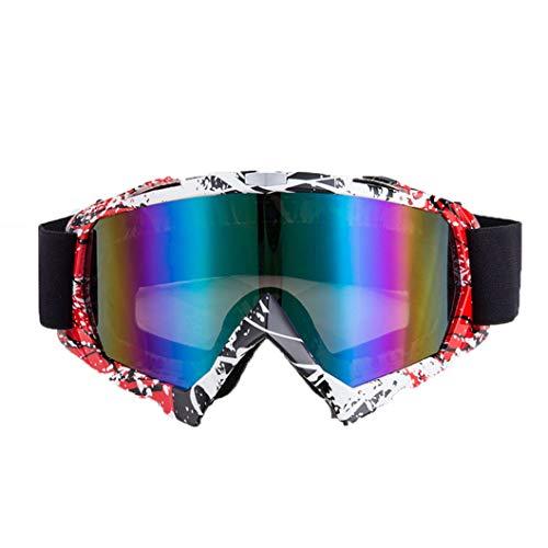 Occhiali da moto antivento Unisex Anti Impact Occhiali colorati Occhiali da motocross adatti a tutti i tipi di viso
