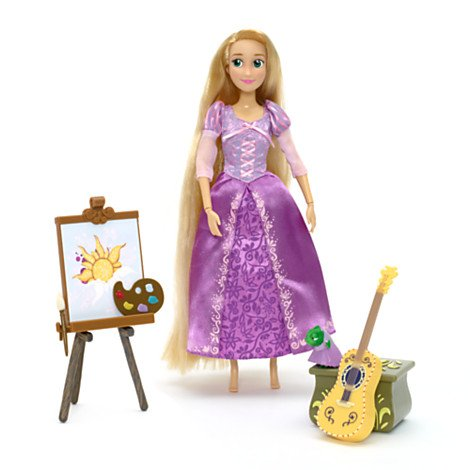 Doll Princess-singing Disney (Offizielle Disney Princess Rapunzel Rapunzel 29cm Deluxe Gesang Puppe mit Zubehör (English Version))