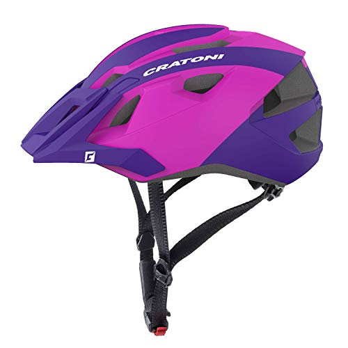 Cratoni Mountainbike Helm AllRide, Purple-pink matt, Gr. Uni (53-59 cm)