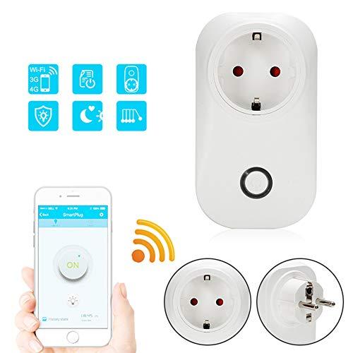 CM Presa Intelligente per WiFi, Telecomando Senza Fili per Telecomando con Telecomando per App Mobile, Compatibile con Alexa, IFTTT e la Presa Intelligente per Il Controllo vocale di Google Nest