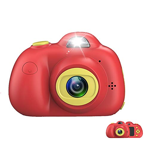 ZMH Kids Camera Gifts für 4 5 6 7 8 Jahre alte 1080P 800W Shockproof Cameras Great Mini Child Camcorder for Little Girl for Outdoor Play Game Boy + 8G TF Card,red8g