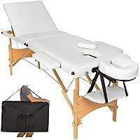 TecTake Camilla de masaje mesa de masaje banco 3 zonas plegable + bolsa - disponible en
