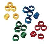 Eurofarm Anelli a Spirale 20 mm, di plastica, Confezione da 100 Pezzi, Colori: Assortiti