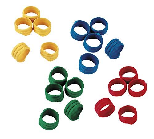 Kerbl Spiralring 20mm, Kunststoff, farblich gemischt, 100St./Pack