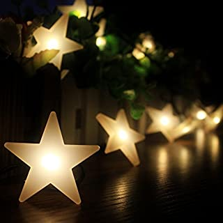 akldigital Solar Operated 20 LED Outdoor String Light with Star Covers