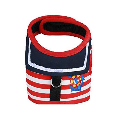 Hyäne Kostüm - GJJ Pet Navy Brustgurt, Haustierleine für Haustiere, Hundeleine, abnehmbare Weste, für gehende Hunde geeignet Null/rot/XL