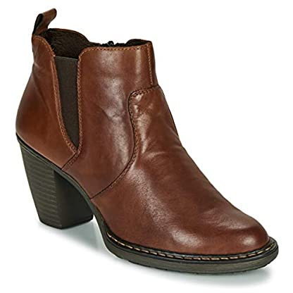Rieker 55284-26 Ankle Boots/Boots Women Brown Ankle Boots Shoes 1