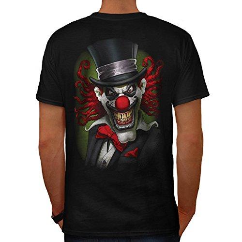 Joker Asyl Kostüm (Clown Hut schaurig Horror Tötlich Gesicht Herren M T-shirt Zurück |)