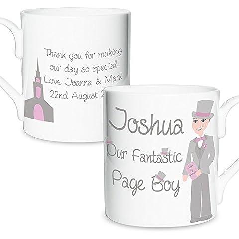 Taza personalizada con fabulosa Page Boy–Regalos de cocina–Tazas, tazas y gafas