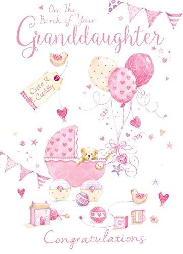 On The Birth of your Enkelin Kinderwagen Spielzeug Design Modern Geburt New Baby Karte