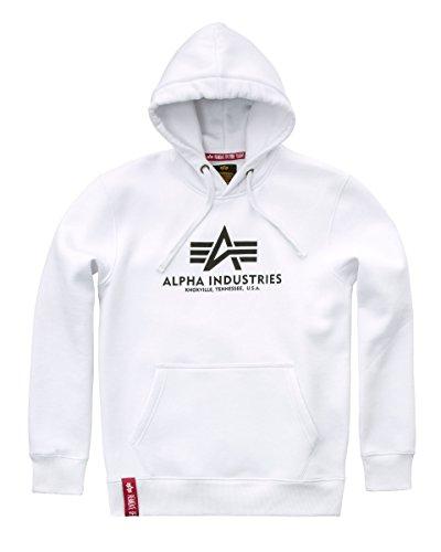 Alpha Industries Basic Hoodie Weiß XXS Logo Hoodie Weiß