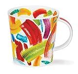 Dunoon Tasse aus feinem Porzellan, Swish Swoosh Cairngorm, hergestellt in England - Swish Red