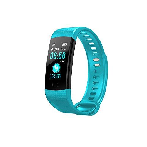 SoloKing Y5 Pulsera Actividad Deportiva Reloj Inteligente Pantalla Color con Pulsómetros,Presión Arterial,Monitor de Sueño,Podómetro,Contador de calorías,Notificación de Llamadas/SMS/Whatsapp (Azul)