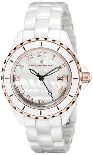 christian-van-sant-femme-34mm-bracelet-ceramique-blanc-quartz-montre-cv9412