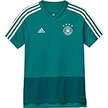 Adidas Selección Alemana de Fútbol Camiseta de Entrenamiento, Niños, Verde (Eqtver/agurea
