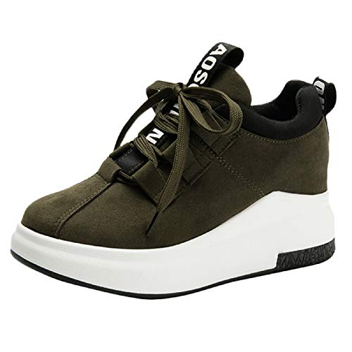 Wildleder Bowling-schuhe (WWricotta Damen Sportschuhe Atmungsaktiv Turnschuhe Laufschuhe Schnürschuhe Freizeitschuhe Outdoor Sneaker Shoes Plateauschuhe)