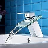 Best Rubinetti da bagno - Auralum Miscelatore lavabo in vetro lavandino monocomando per Review